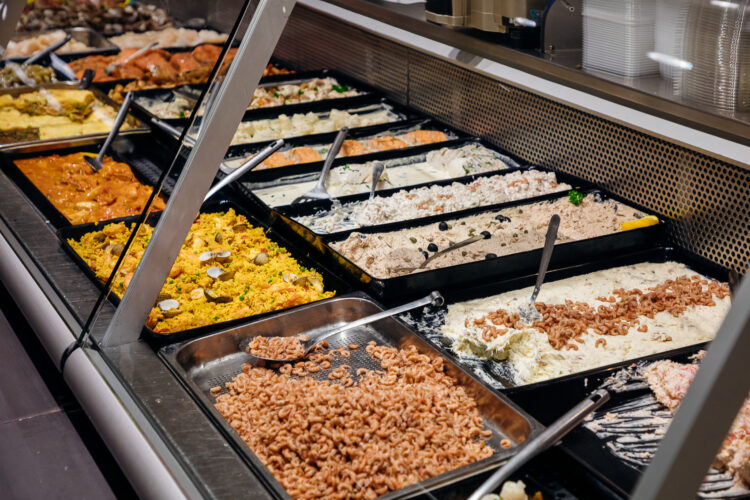 Fieret's vishandel kaai sluis garnaalsalade, salades